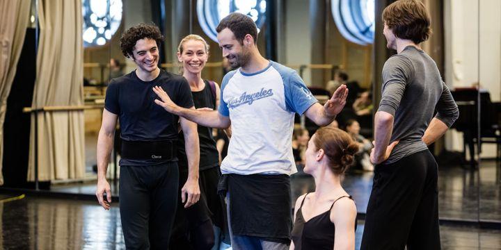 """Benjamin Millepied en répétition pour """"Daphnis et Chloé""""  (Agathe Poupeney/Opéra national de Paris)"""