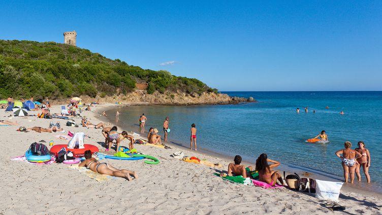 La plage de Zonza (Corse-du-Sud), le 2 avril 2012 (BERTRAND BODIN / ONLY FRANCE)