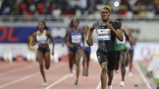 L'athlète sud-africaine, Caster Semenya, le 3 mai 2019, lors d'une compétition à Doha (Qatar). (KAMRAN JEBREILI/AP/SIPA / AP)