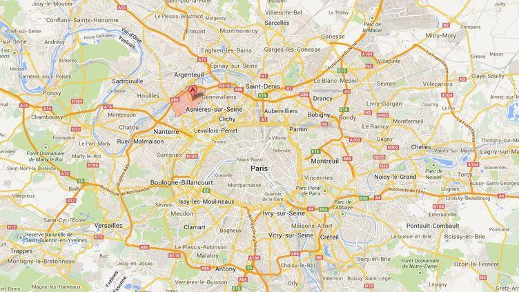 Une nouvelle fusillade a éclaté mardi 3 septembre en fin d'après-midi à Colombes (Hauts-de-Seine), moins de 24 heures après un affrontement du même type. ( GOOGLE MAPS / FRANCETV INFO )