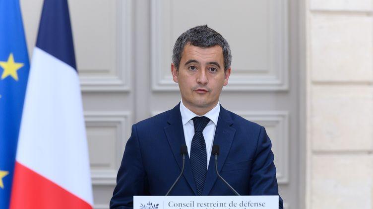 Gérald Darmanin, ministre de l'Intérieur, le 30 octobre 2020 à Paris. (JACQUES WITT/SIPA)