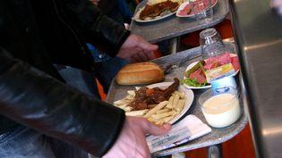Au restaurant universitaire de Thionville(Moselle),le 13 janvier 2010. (MAXPPP)