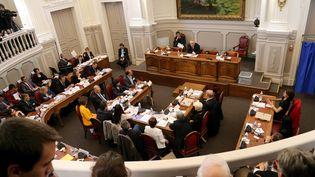 Le conseil départemental du Vaucluse, à Avignon, le 2 avril 2015. (MAXPPP)