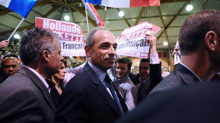 Jean-François Copé lors d'un meeting à L'Union près de Touluose, le 24 octobre 2012 (REMY GABALDA / AFP)