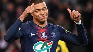 Kylian Mbappe aprèssa victoire face à Nantes, mercredi 3 avril 2019, au Parc des Princes. (ANNE-CHRISTINE POUJOULAT / AFP)