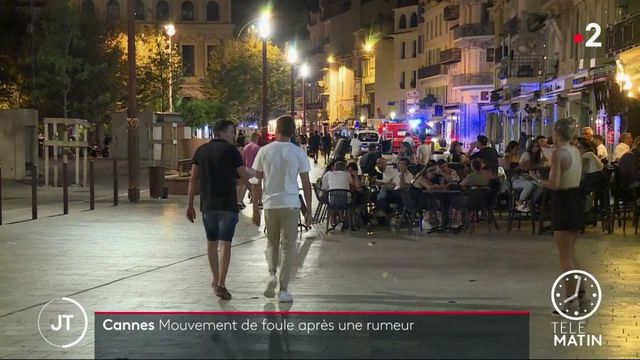 Cannes: un mouvement de foule provoqué par une fausse rumeur