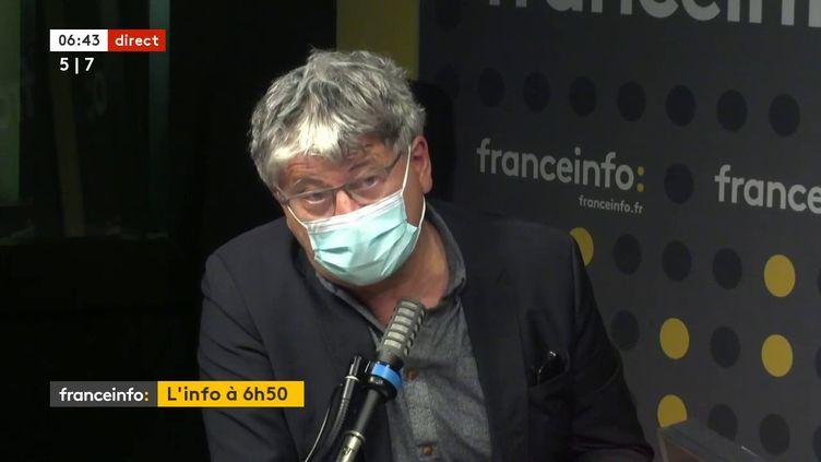Eric Coquerel, député LFI Seine-Saint-Denis, membre de la commission des finances, le 21 juin 2021 sur franceinfo (FRANCEINFO / RADIO FRANCE)