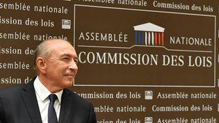 Le ministre de l'Intérieur, Gérard Collomb, devant la commission d'enquête de l'Assemblée nationale, lundi 23 juillet 2018 à Paris. (GERARD JULIEN / AFP)
