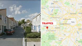 Une attaque au couteau a été perpétrée à Trappes (Yvelines), le 23 août 2018. (GOOGLE STREET VIEW / GOOGLE MAPS)