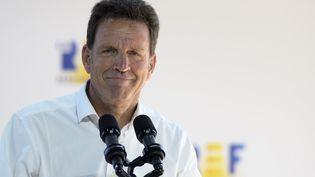 Geoffroy Roux de Bezieux, le président du Medef, à Paris, le 26 août 2020. (ERIC PIERMONT / AFP)