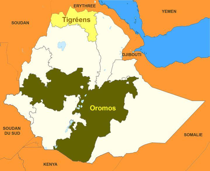 Oromos et Tigréens,deux ethnies qui se disputent le pouvoir en Ethiopie. (franceinfo Afrique)