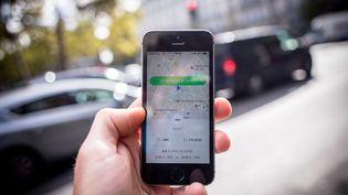 L'application Uber (illustration). (AURELIEN MORISSARD / MAXPPP)