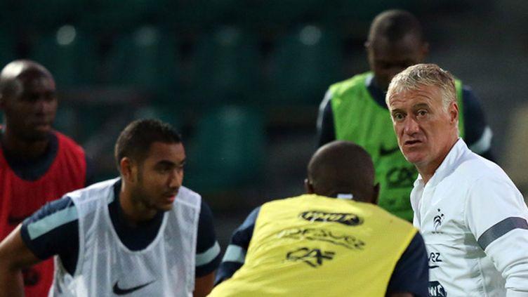 Deschamps et les Bleus à l'entraînement (FRANCK FIFE / AFP)