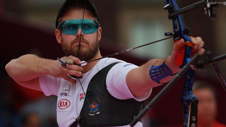 L'archer tricolore Jean-Charles Valladont (DANIEL CARDENAS / ANADOLU AGENCY)