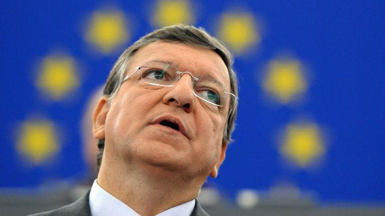 José Manuel Barroso au Parlement européen à Strasbourg (Bas-Rhin), le 12 septembre 2012. (FREDERICK FLORIN / AFP)