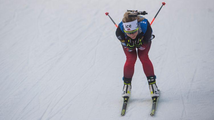 La Norvégienne Tiril Eckhoff. (MICHAL CIZEK / AFP)