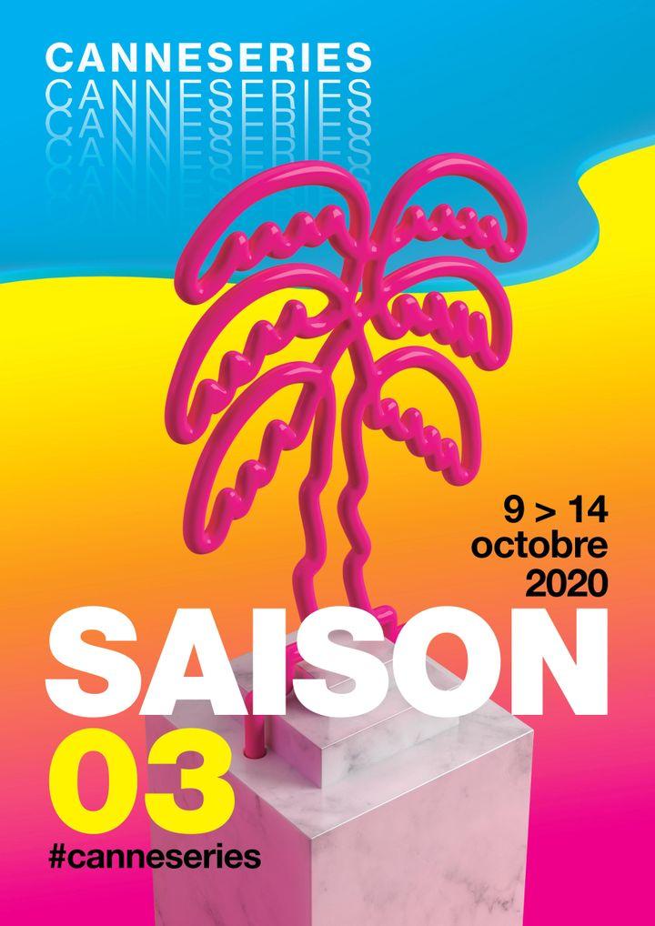 L'affiche de la troisième édition du festival. (CanneSéries)