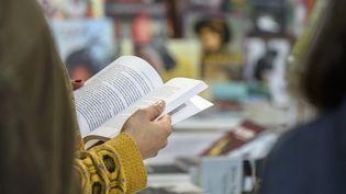 Lectrice à la Foire du livre de Bruxelles, le 18 février 2019 (photo d'illustration) (MAXPPP)