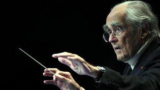 Le musicien, compositeur et arrangeur Michel Legrand au Festival des Notes et des Toiles  (PHOTOPQR/L'EST REPUBLICAIN/MAXPPP)
