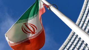 Le drapeau iranien (illustration, le 1er mars 2021). (JOE KLAMAR / AFP)