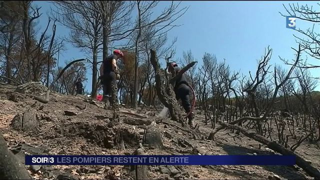 Incendies : les pompiers restent en alerte