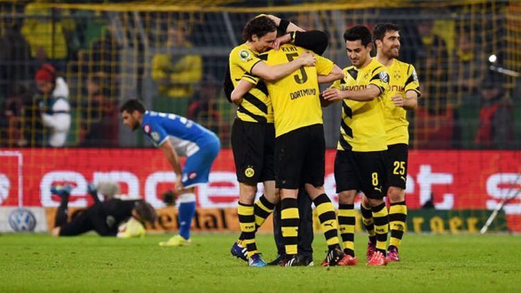 La joie des joueurs du Borussia Dortmund