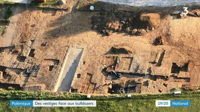 Polémique : des vestiges face aux bulldozers en Dordogne