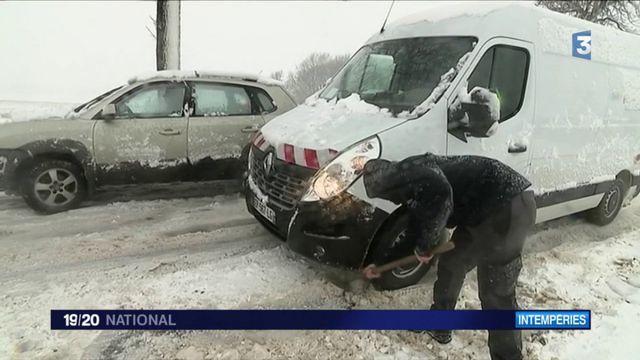 Tempête Ana : le nord de la France sous la neige