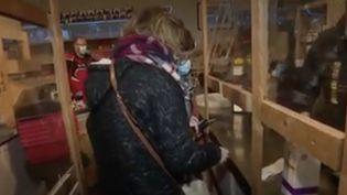 Pas-de-Calais : le blocus inquiète les commerçants. (Capture d'écran/France 3)