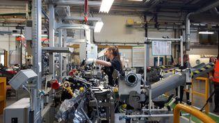 L'usine pilote du groupe Renault, en juin 2017, àCléon, en Seine-Maritime. (ISABELLE RAYMOND / FRANCEINFO)