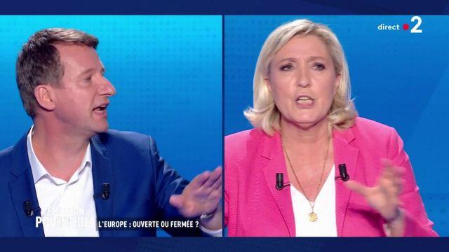 """Européennes : """"Ca s'appelle du patriotisme de pacotille"""", lance Jadot à Le Pen"""