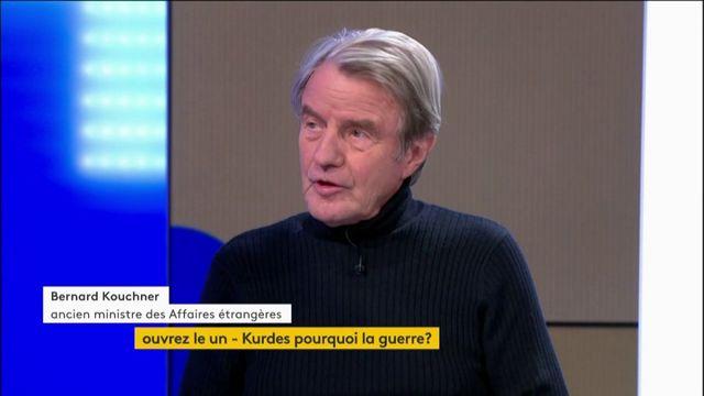 """VIDEO. """"Toujours la même mort des Kurdes, toujours nos alliés que l'on trahit"""", estime Bernard Kouchner"""