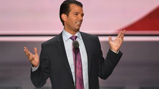 Donald Trump Jr. lors de la convention nationale du Parti républicain à Cleveland (Ohio), le 19 juillet 2016.  (JIM WATSON / AFP)