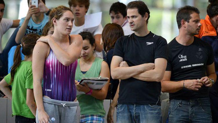 Camille Muffat et son entraîneur Fabrice Pellerin
