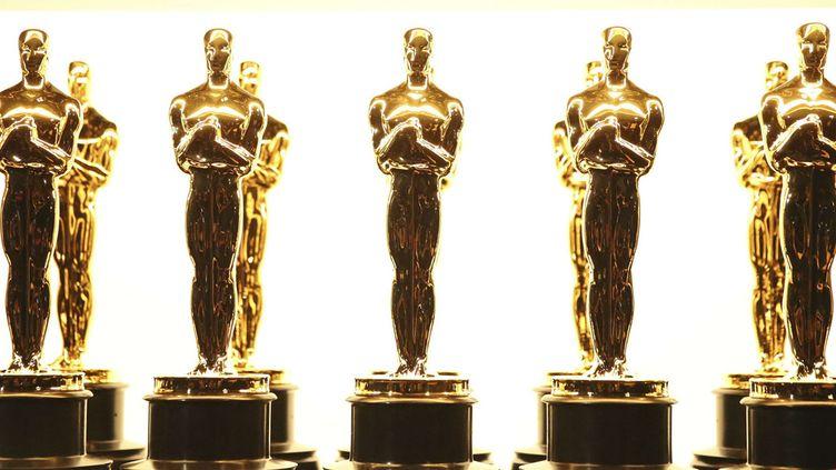 Des statuettes d'Oscars patientant backstage lors de la cérémonie 2017 au Dolby Theatre de Hollywood, à Los Angeles (26 février 2017)  (Matt Sayles / AP / Sipa)