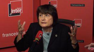 Catherine Millet, invitée de France Inter vendredi 12 janvier 2018. (FRANCE INTER / RADIO FRANCE)
