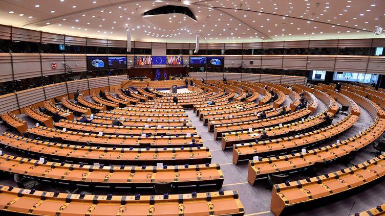 Le Parlement européen, à Bruxelles, le 16 décembre 2020. (JOHN THYS / AFP)