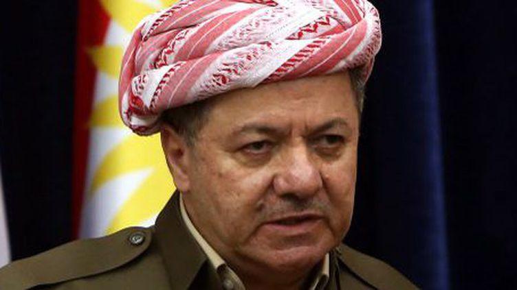 Président de la région autonome du Kurdistan irakien depuis 2005, Massoud Barzani rêve de voir naître un Etat indépendant. (AFP PHOTO/SAFIN HAMED)