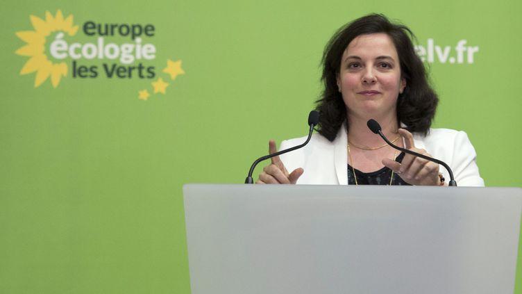 La secrétaire nationale d'EELV, Emmanuelle Cosse, le 5 avril 2014 à Paris. (ALAIN JOCARD / AFP)