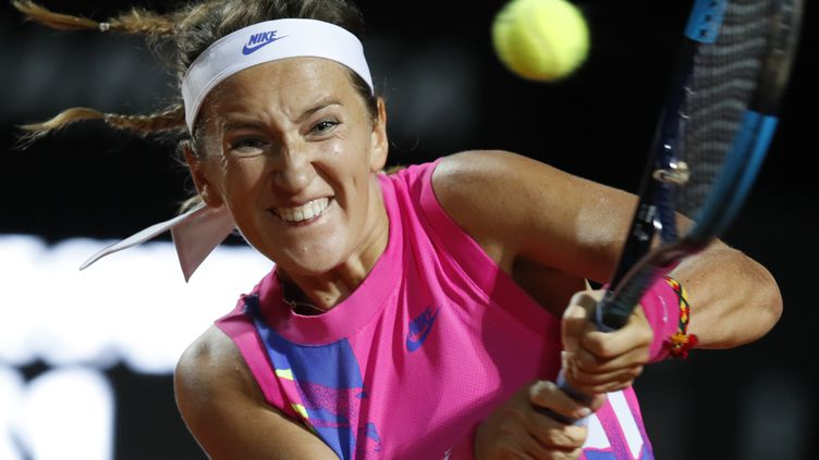 Victoria Azarenka jouera les 8es de finale à Rome (CLIVE BRUNSKILL / POOL)