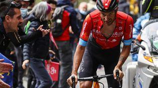 Damiano Caruso (Bahrain-Victorious) a remporté la 20e étape du Tour d'Italie. (LUCA BETTINI / AFP)