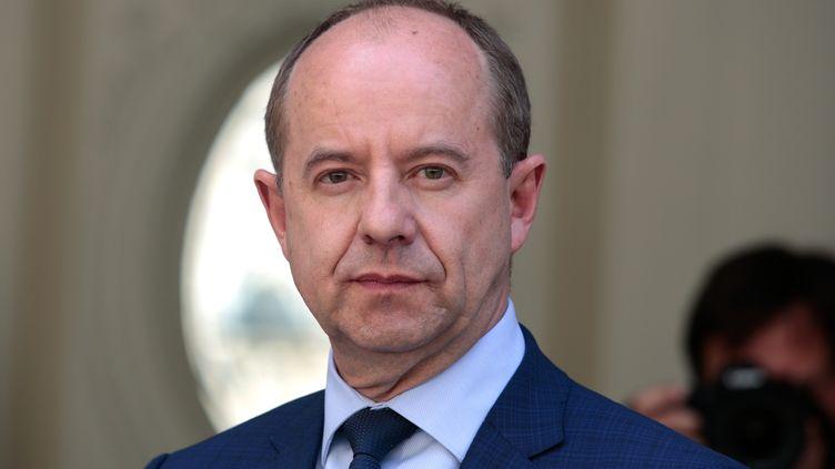 Jean-Jacques Urvoas, le 17 mai 2017, alors qu'il était ministre de la Justice. (GEOFFROY VAN DER HASSELT / AFP)