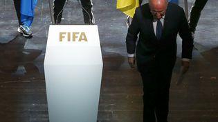 Le président de la Fifa, Joseph Blatter, le 28 mai 2015 à Zurich (Suisse), lors de l'ouverture du congrès de l'instance dirigeante du foot mondial. (ARND WIEGMANN / REUTERS)