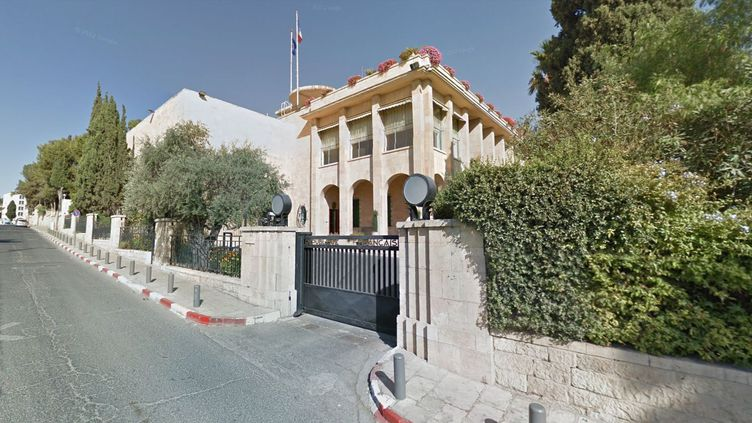 Le Consulat de France à Jérusalem. (GOOGLE STREET VIEW)