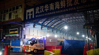 Le marché aux poissons de Wuhan (Chine), le 11 janvier 2020. (NOEL CELIS / AFP)