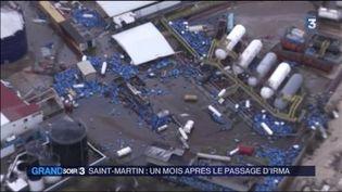 L'île de Saint-Martin a été dévastée par l'ouragan Irma. (FRANCE 3)