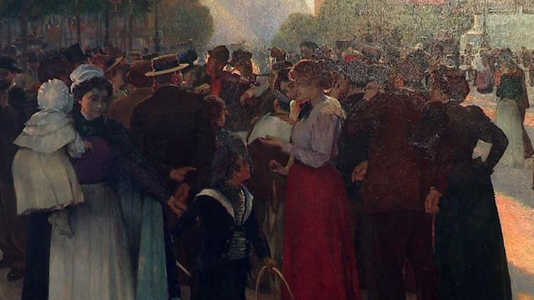 Un tableau deJules Adler  (France 3 Culturebox capture d'écran)