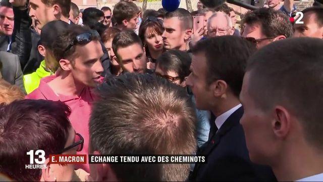 Vosges : Emmanuel Macron chahuté par des cheminots de la SNCF
