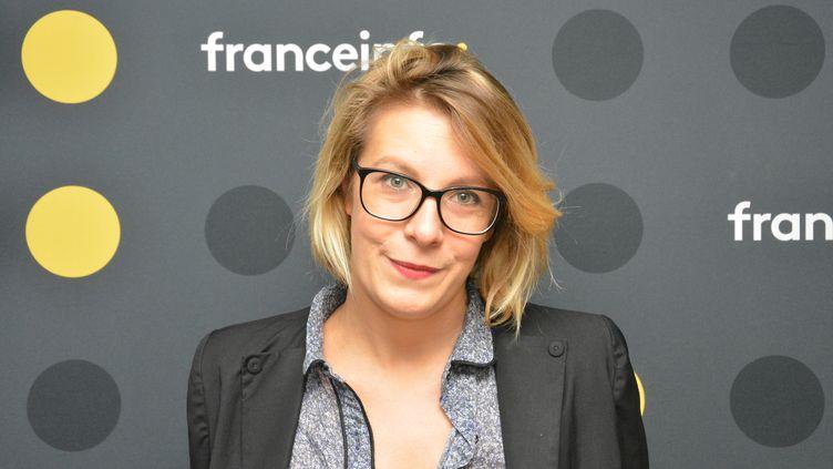 Aude Rossigneux, rédactrice en chef du futur média audiovisuel qui doit naître début 2018 en france. (RADIO FRANCE / JEAN-CHRISTOPHE BOURDILLAT)