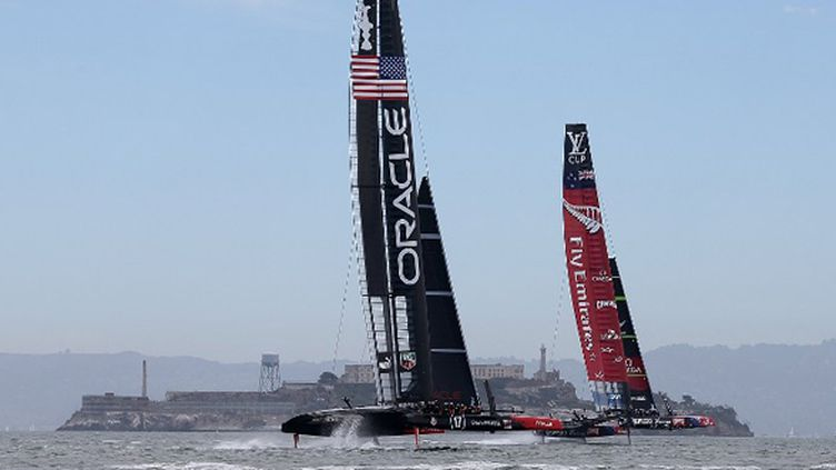 Oracle Team vs Team New Zealand (JUSTIN SULLIVAN / GETTY IMAGES NORTH AMERICA)